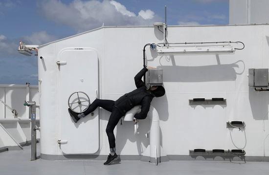 James Batchelor on Ship
