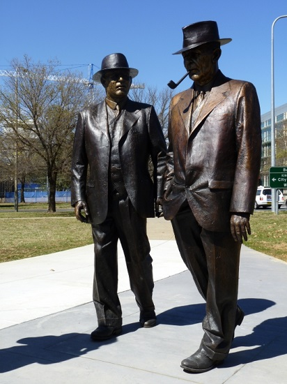 large Prime Minister Curtin and Treasurer Ben Chifley